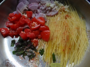 One pot pasta tomate et piment d'espelette