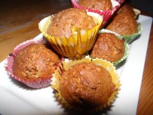 Muffins aux baies de Goji & à la noisett